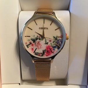 Floral Geneva Watch